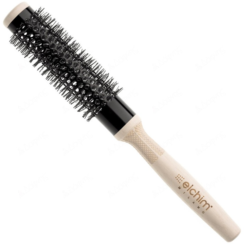 Elchim Wooden Thermal Brush 24mm Βούρτσα Μαλλιών