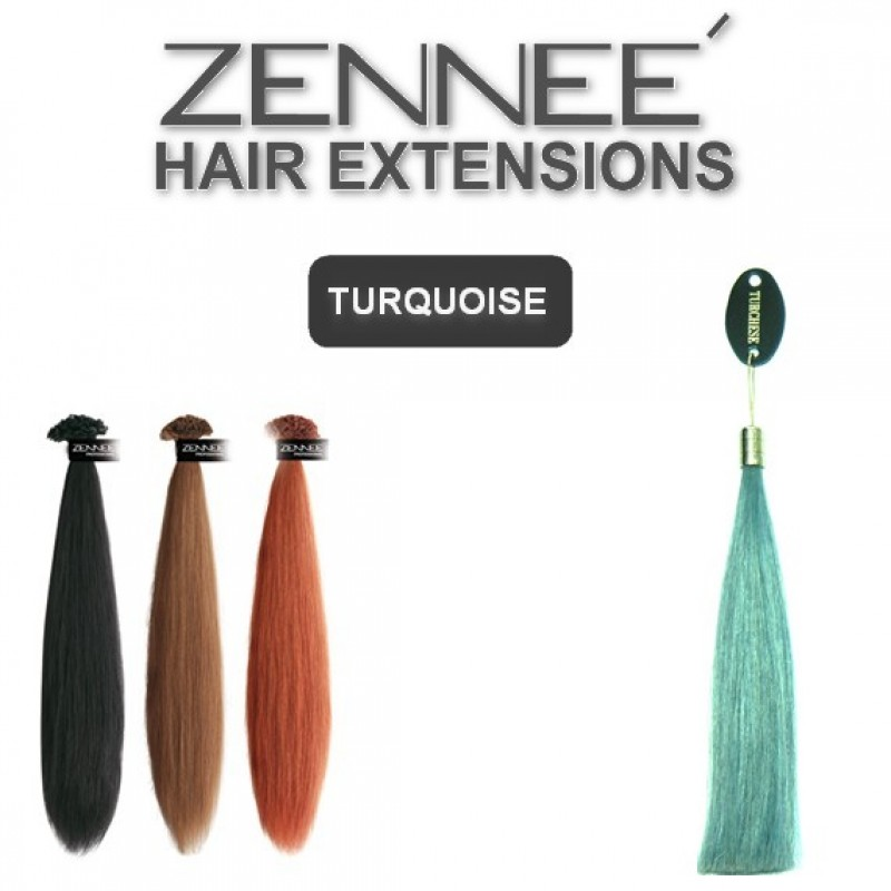 Hair Extensions 50cm  Color TURQUOISE